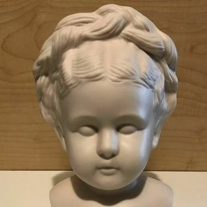 Signed 1965 Vintage Maiden Home Decor Statue Head